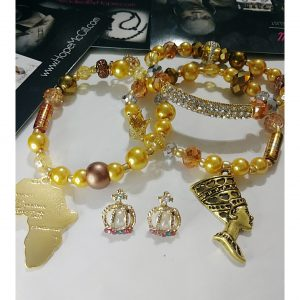 """Mama Africa"" Viva La Bling 3 stack with FREE crown earrings."