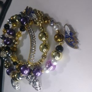 """Baltimore Ravens"" Viva La Bling 3 stack"