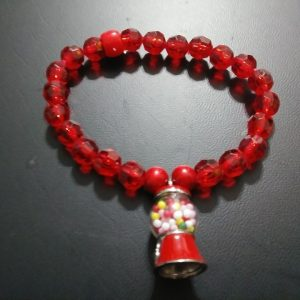 """GUMBO"" Double stacked gum machine bracelets."