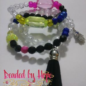"""Electric"" 3 stack wrist bracelets"
