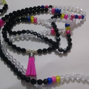 """Electric"" Waist beads with tassel included."