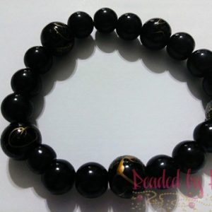 "King & Queen ""Black Galaxy"" wrist bracelet"