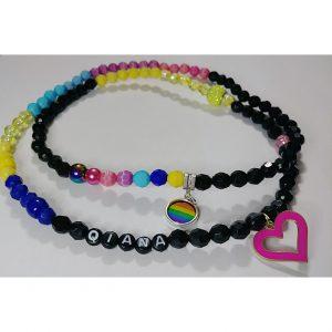 """Pride"" waist beads"