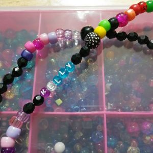 """""""Ombre Triple Play"""" Five charms included! Three sets of waist beads stacked."""