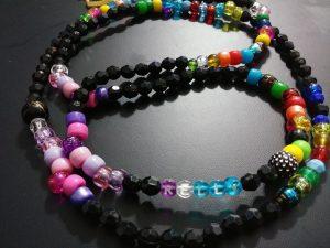 """""""WARM RAINBOW"""" waist beads with NAME!!"""