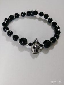 """Silver Sparta"" Wrist beads"