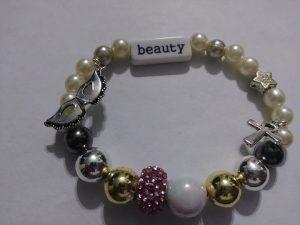 """""""Collette Spencer"""" stack of 3 bracelets."""
