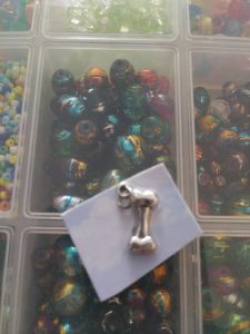 """SOUL"" waist beads with matching bracelet."