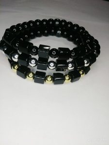 """""""Boxed Set"""" Black, silver and gold triple stack!"""