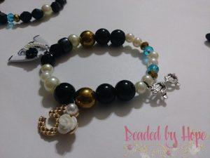 """Cookie's Gems"" 3 stack wrist bracelets"