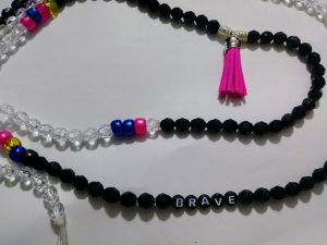 """""""Electric"""" Waist beads with tassel included."""
