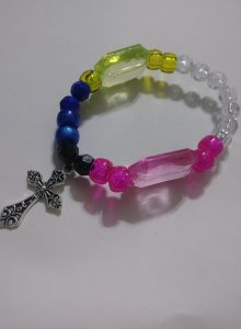 """Electric"" 3 stack wrist bracelets"