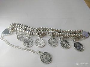 """Boho"" Wrist beads with coin charms. SALE!!"