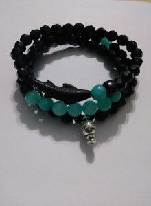 """Global"" wrist bracelet (Spinning globe charm piece included)"