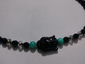 """Universal Peace"" Jade & Buddha 20 inch necklace."