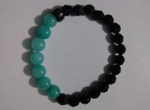 """7 Stones Of Peace"" Jade wrist bracelet."