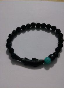 """Black koi"" wrist bracelet"