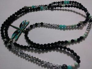 """Queen Jade"" Waist beads ""Dragon fly mega charm included"""