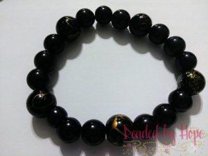 """King & Queen """"Black Galaxy"""" wrist bracelet"""