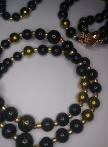 """""""Uncle L"""" Sparta necklace and double stack bracelets."""