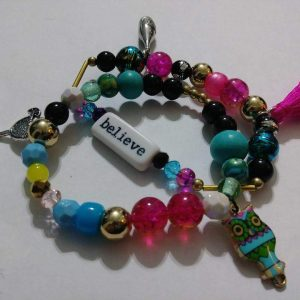 """Martini Girl"" 2 stack wrist bracelets"