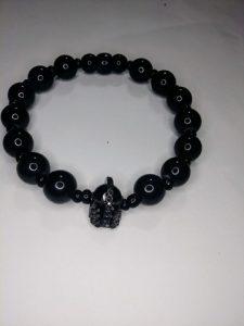 """Sparta"" Triple black wrist bracelet"