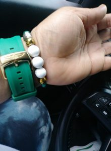 """Spearmint"" Wrist beads"