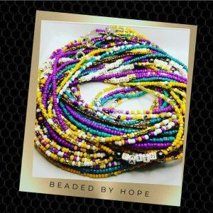 plus size waist beads, beaded by hope